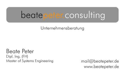 Beate Peter Consulting Unternehmensberatung